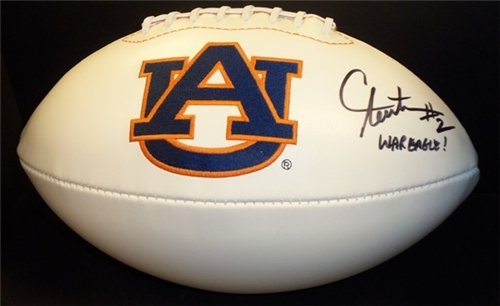 Cam Newton Autographed/Hand Signed Auburn Tigers Football with ''WAR EAGLE'' Inscription