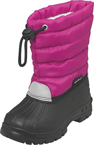 Playshoes Winterstiefel Schneeschuhe für Kinder mit Warmfutter, Scarponi da neve imbottiti, a mezza gamba Ragazza, Rosa (Pink (18 pink)), 30/31