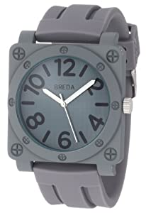Breda Men's 8146-Grey Matthew Oversized Square Bolted Case Sport Watch