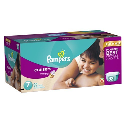 Pampers Cruisers Diapers Size 7 Economy Pack Plus, 184 Count front-20617