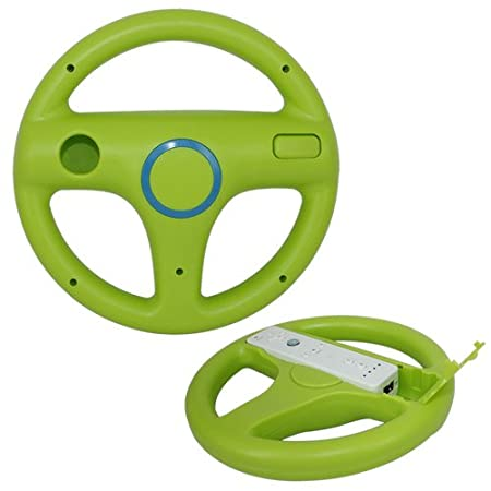 Skque Racing Steering Wheel for Nintendo Wii, Green