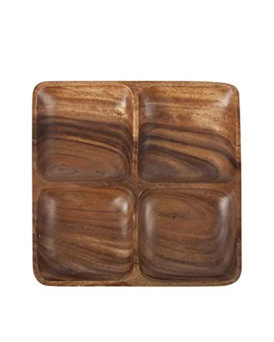 Core Bamboo Acacia Square Entertainment Platter, Stained