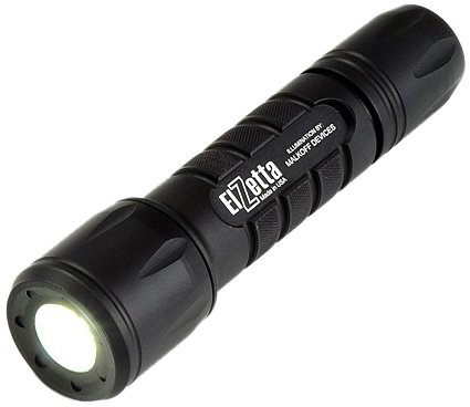 Elzetta Zfl-M60-Lf2C Tactical Weapon Led Flashlight With Flood Lens Low Profile Bezel, 2-Cell, Click Tail Cap