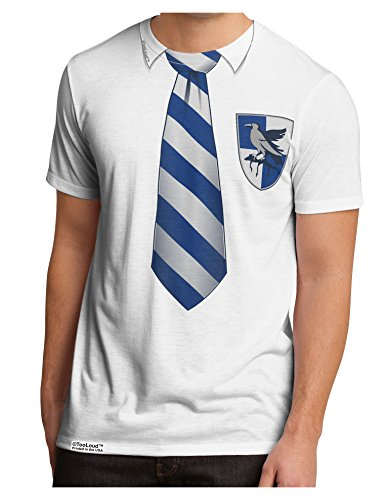 TooLoud Wizard Uniform Blue and Silver AOP Men's Sub Tee Dual Sided XL All Over Print (Hogwarts School Uniform)