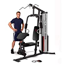 Marcy 150 Pound Weight Stack Home Gym with Arm Press
