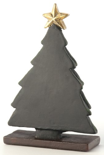 October Hill Decorative Black Chalkboard Holiday Tree Place Card Holder/Menu Buffet Label, Mini