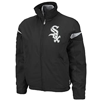 MLB Chicago White Sox Triple Peak Ladies Jacket, Black Silver by Majestic