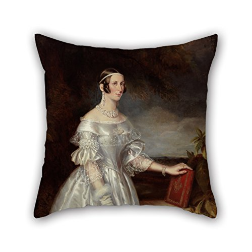 MaSoyy Oil Painting Maurice Felton - Portrait Of Mrs Alexander Spark Christmas Pillowcover 16 X 16 Inches / 40 By 40 Cm For Bench Sofa Play Room Bar Couples Drawing Room With Twin Sides (Mrs Lincoln Rival compare prices)