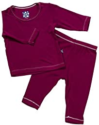 KicKee Pants Girls\' Long Sleeve Pajama Set - Orchid - 3T