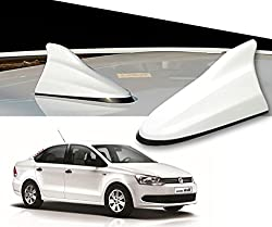 Auto Pearl - Premium Quality White Shark Fin Replacement Signal Receiver Antenna for - Volkswagen Vento