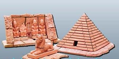 ザ・ブリック 世界の建物シリーズ ピラミッド と スフィンクス アブ・シンベル神殿 (エジプト)