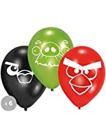 Lot de 6 Ballons Angry Birds - Taille Unique