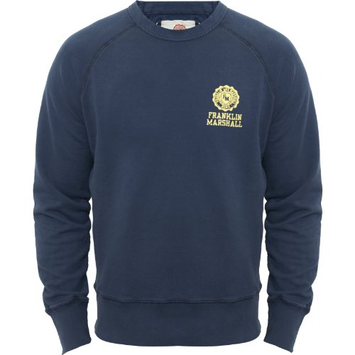 Franklin & Marshall Mens Navy Fitted Heavyweight Cotton Jumper 2013 FLMC042 Navy Medium