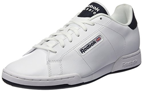 Reebok Npc Rad Pop, Scarpe Low-Top Uomo, Multicolore (White/Collegiate Nav), 43 EU