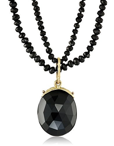 Gabrielle-Sanchez-16x20mm-Double-Strand-Black-Spinel-Pendant-Necklace
