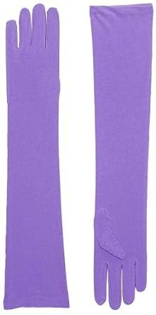 Long Purple Opera Gloves