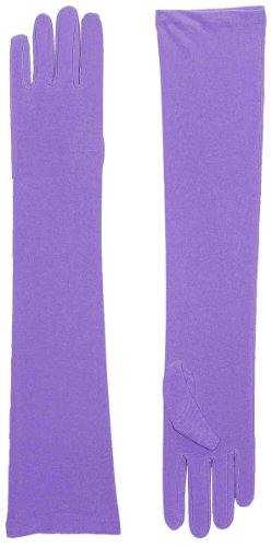 Gloves - Long Nylon (Purple) Adult Accessory