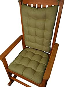 Rocker Cushion Set - Rave Solid Color Sage Green - Fits Extra-Large ...