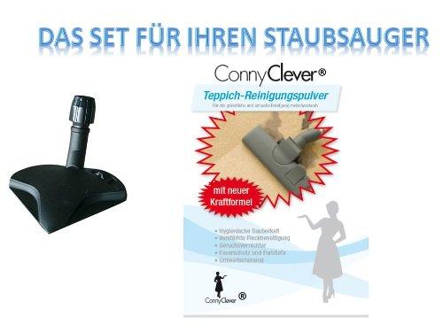Teppichpulver, Teppich, Pulver,Teppich Feucht-Pulver 500gr + Ecksaugdüse universal von Conny Clever®