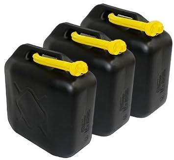 Ausgießer 5 x 20 Liter Dieselkanister Benzinkanister UN-Zulassung schwarz inkl