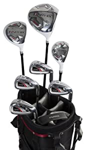 Pinemeadow Golf Nitrix Pro Complete Set (Driver, 3 Wood, Hybrid, 6/7-PW Irons, Putter, Bag, Left Hand)