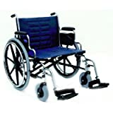 419GG293QQL. SL160  Invacare IVC Tracer IV Wheelchair 22 (450 lbs) with Removable Desk Arms and Footrest Blue