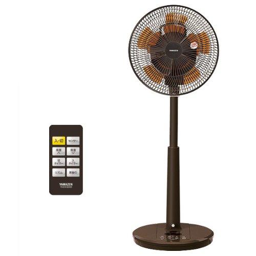 山善(YAMAZEN) (DCモーター搭載)30cmリビング扇風機&サーキュレーター(人体感知センサー・静音モード搭載)(リモコン)(風量8段階)入切タイマー付 ブラウン YHCX-BD30(BR)