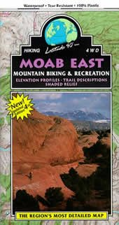 Moab East Mountain Bike Trails Topo Map