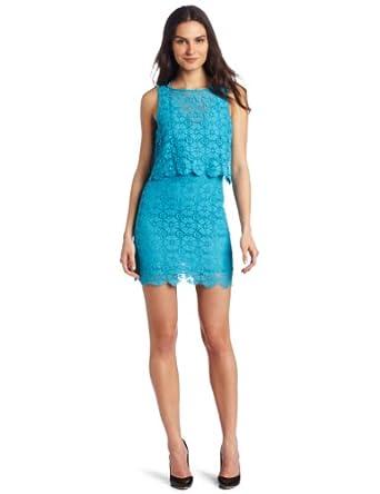 Rebecca Minkoff Women's Jemme Dress, Turquoise, 4 US
