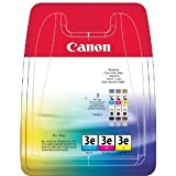 Canon 4480A265 - BCI-3E Multipack - 3-pack - yellow, cyan, magenta - original - blister - ink tank - for BJ-S400, S520, BJC-400, 600, i450, 550, MultiPASS C755, MP390, S400, SmartBase MP730