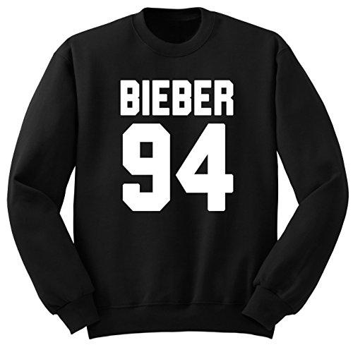 Justin Bieber / Bieber 94 / Felpa / SW12 (L, Nero)