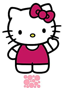 Hello Kitty The World of Hello Kitty Giant Wall Decals and Mini Polka Dots Bundle Makeover Kit