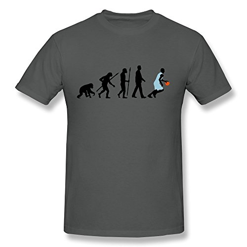 100% Cotton Funny Sayings Evolution Basketball Tshirt For Guy'S - Round Neck front-840986