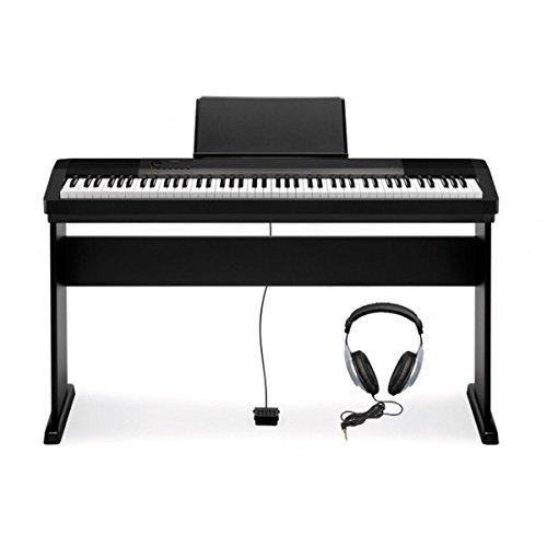 Casio-CDP-130-Piano-digital-con-soporte-88-teclas-48-notas-5-canciones-color-negro