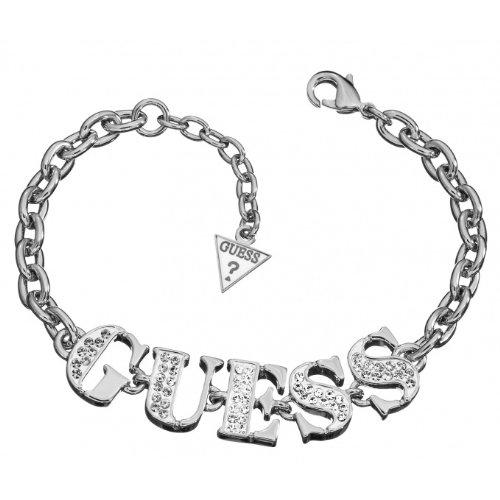 Guess Damen-Armband Metalllegierung rhodiniert Zirkonia weiß 18 cm - UBB11201 thumbnail