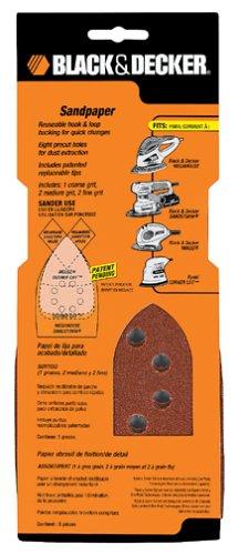 Black & Decker 74-673 Mega 220 Grit Sand Paper, 5-Piece