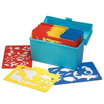 Essential Learning Products 001953 Stencil Mill in Plastic Box - Set of 24