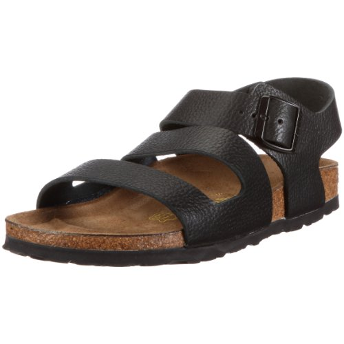 Birkenstock Genua Smooth Leather, Style-No. 24051, Unisex Sandals, Buffalo Black, EU 48, normal width