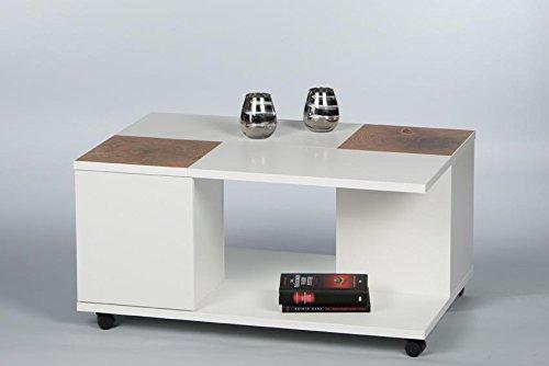 Couchtisch 16732 Wohnzimmertisch Tisch Weiß / Hirnholz