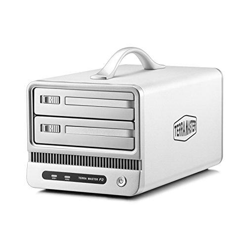 TerraMaster NAS Network Storage F2-NAS2 Cloud Storage 2-Bays NAS Server RAID, storage per piccoli uffici e uso domestico(diskless)