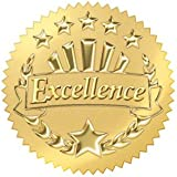 Trend Enterprises Excellence (Gold) Award Seals Stickers (T-74003)