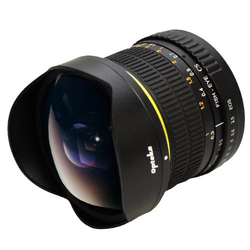 Opteka 6.5mm f/3.5 Manual Focus Aspherical Fisheye Lens for Nikon D4, D3X, D3, D800, D700, D300S, D300, D90, D60, D40, D7000, D5200, D5100, D5000, D3200, D3100 and D3000 Digital SLR Cameras (New Version)