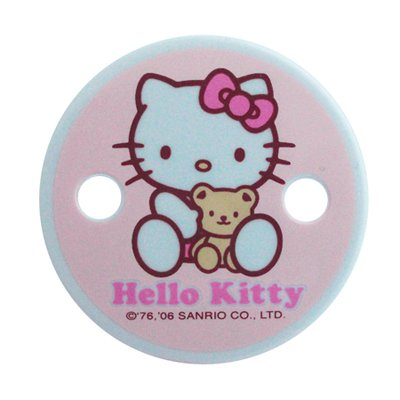 Hello Kitty Baby Pacifier Holder with Smooth Edged Clip (Safe: No Metal Clip) - 1