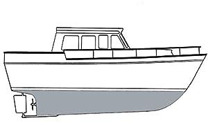 Interlux Gray White Fiberglass Bottomkote ACT Antifouling Paint, Gallon Y7740B/1