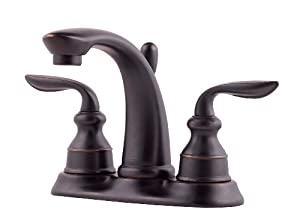 Pfister Avalon 2 Handle 4 Centerset Bathroom Faucet In Tuscan Bronze Qeza0 L