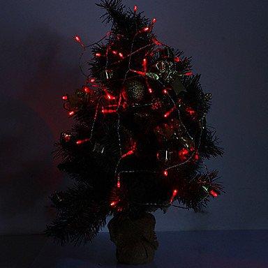 Ch&Ch 4M 3W 40-LED 210LM luce rossa LED Light Strip per le decorazioni natalizie