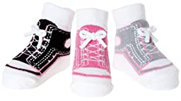 Baby Emporio-3 Pr Baby Girl Socks-0-9 Mos-Gift Pouch (GIRL SNEAKERS)