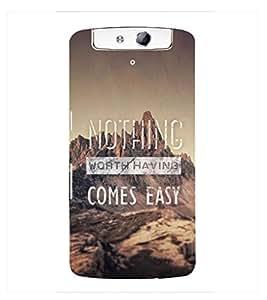 Fuson Premium Printed Hard Plastic Back Case Cover for Oppo N1