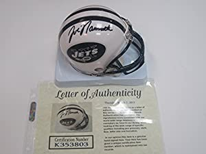 Joe Namath New York Jets Signed Autographed Mini Helmet Authentic Certified Coa