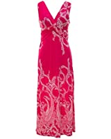 Peach Couture Paisley Knotted Sleeveless Maxi Dress Beach Dress Evening Dress